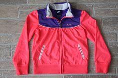 NIKE Girls 6 6X Pink Purple Zip Front Sweatshirt Jacket Polyester Athletic  #Nike #Everyday