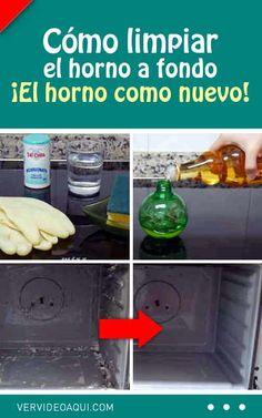 Cómo limpiar el horno a fondo. ¡El horno como nuevo!