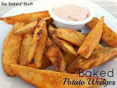 Baked Tater Wedges and Utah's Famous Fry Sauce-had this for the Dec birthdays with ribs. For the sauce we use a little sriracha with our mayo and ketchup.The BOMB!