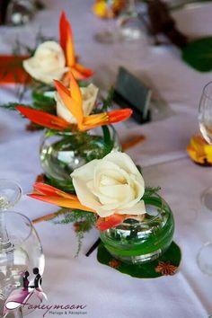 d coration table th me antillais et madras anis et blanc mariage d cor fleurs divers. Black Bedroom Furniture Sets. Home Design Ideas