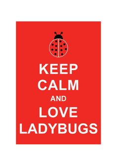 Keep Calm and Love Ladybugs Insect art by simplygiftsonline, $10.80