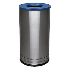21 Qt Large Open Wastebasket Magnificent Tough Guy 21 Galhalf Round Gray Opentop Trash Can  Indoor Trash Review