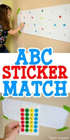 ABC Sticker Match Activity #toddler #toddleractivity #easytoddleractivity #indooractivity #toddleractivities  #preschoolactivities  #homepreschoolactivity #playactivity #preschoolathome Letter Activities, Preschool Learning Activities, Preschool Classroom, Fun Learning, Toddler Activities, Teaching Toddlers Letters, Activities For 4 Year Olds, Quiet Time Activities, Learning Shapes