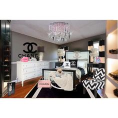 Chanel Room! Every girly girls dream! This would be sooo fun to achieve! ! Loving it honey!