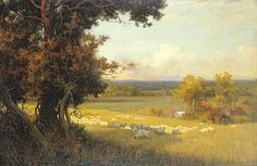 The Golden Valley Painting by Sir Alfred East