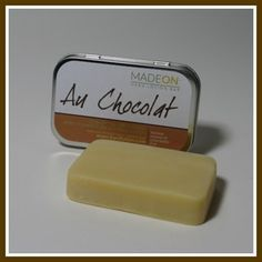 AU CHOCOLAT BAR Family Size (2 oz) Handcrafted in small batches! Solid at room temperature, the Au Chocolat hard lotion is designed to specifically protect hands and feet from cracked skin and extreme dry skin. Made with cocoa butter, this bar has a light, natural chocolate scent. | HardLotion.com #skincare #moisturize