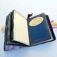 Wedding guest book fairytale wedding blue por SevenMemoriesBookArt