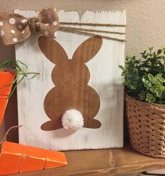 50 de corte láser de madera Conejo De Pascua Bunny formas 35 X 45 Mm 3 Mm Mdf Artesanales