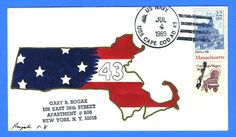USS Cape Cod AD-43 Fourth of July 1989 - Rogak Handpainted Cachet