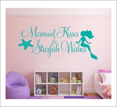 Mermaid Kisses Wall Decal Starfish Wishes by CustomVinylbyBridge