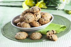 Biscoitos de aveia com pepitas de chocolate