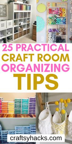 These diy craft room hacks will help you organize it better and get more creative. Enjoy these organizing ideas and have fun. Craft Room Design, Craft Room Decor, Craft Closet Organization, Organizing Ideas, Craft Paint Storage, Craft Shed, Small Craft Rooms, Bedroom Crafts, Diy Home Decor Easy