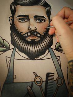 Poster // Bearded Barber