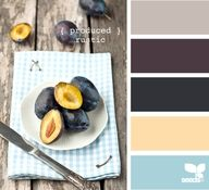 Soft Rustic, Flesh, Deep Plum & Gray...