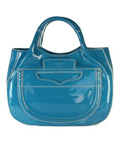 Look at this Kate Spade Lazuli Pretty Penny Treesh Patent Leather Tote on #zulily today!