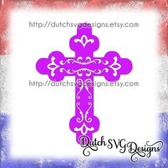 Decorative cross cutting file in Jpg Png SVG EPS DXF for Cricut & Silhouette, religious, decorated, plotter, crafter, cruz religiosa, Kreuz, kruis