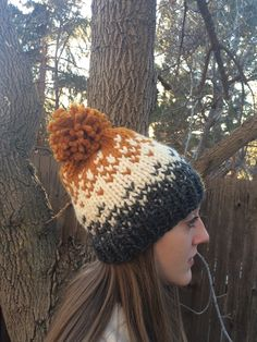 A personal favorite from my Etsy shop https://www.etsy.com/listing/265873322/chunky-fair-isle-hat-knit-ombre-fair