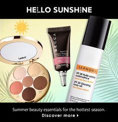 Hello sunshine! Summer beauty essentials for the hottest season.