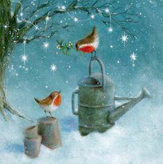 Album 2 « Gallery 15 « Christmas (by category) « Jan Pashley – Illustration / Design Christmas Bird, Christmas Drawing, Christmas Scenes, Christmas Paintings, Christmas Pictures, Winter Christmas, Christmas Crafts, Illustration Noel, Christmas Illustration