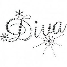 Diva Hotfix Motifs  I would use this as a template for rhinestones for a gift for Jess.
