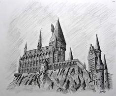 Výsledek obrázku pro hogwarts drawing