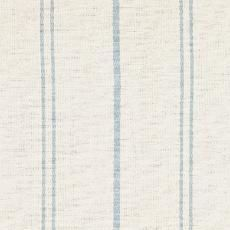 True Blue - Ivory - Ivory white fabric with true blue stripes