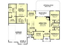 Searching for an efficient, open floor house plan? Look no further than the Tanner Plan from House Plan Zone! Beautiful & practical - check it out today!