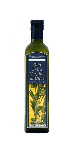 Bottiglia di Olio Extra Vergine d'Oliva da 0,75 lt. E' un olio estratto a freddo con ciclo continuo a tre fasi da olive raccolte in modo meccanico e manuale. E' un Blend dal sapore fruttato medio con risalto del gusto di erba e carciofo e un grado di acidità inferiore allo 0,40%.