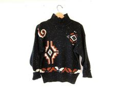 90s sweater. ethnic tribal sweater. by dirtybirdiesvintage on Etsy, $36.00