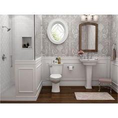Bathroom decor for the master bathroom remodel. Learn bathroom organization, bathroom decor suggestions, bathroom tile suggestions, master bathroom paint colors, and much more. Bathroom Renos, Bathroom Faucets, Condo Bathroom, Relaxing Bathroom, Wainscoting Bathroom, Neutral Bathroom, Bathroom Cleaning, Stone Bathroom, Bathroom Closet