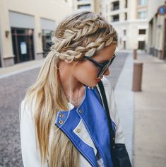 bag, beautiful, blazer, blonde, blue, braid, chic, city, contour, dutch braid, fashion, fishtail, girl, girly, hair, long hair, makeup, model, pretty, sophisticated, street, stylish, sunglasses, vogue, walk, want, First Set on Favim.com