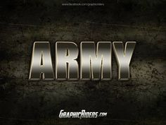 GraphicRiders | Metal style – Army (free photoshop style)