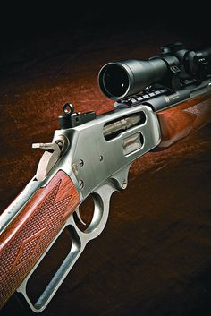 Marlin 336 Rifle Had one chambered for the heck off a 100 yard gun. Weapons Guns, Guns And Ammo, Revolver, Winchester, Lever Action Rifles, Survival, Fire Powers, Hunting Rifles, Cool Guns