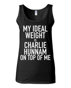 Sons of Anarchy - My Ideal Weight Is Charlie Hunnam On Top Of Me - Funny Workout Shirt - Jax Teller