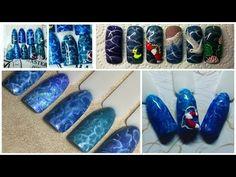 Юлия Билей - Текстура воды / Julia Biley - Texture of water Nail art Periscope - YouTube