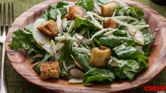 Talk @Connie Chow: Mustard Greens Salad with Anchovy Dressing #Recipe - Get Recipe here: