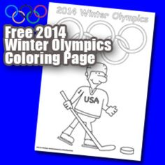 winter olympics 2014 coloring pages | FREE 2014 OLYMPICS COLORING WORKSHEET - TeachersPayTeachers.com