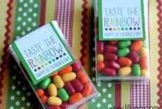 Taste the Rainbow Prints for Tic Tacs - CUTE St. Patricks Day gift idea!