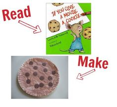 craft for if you give a mouse a cookie (my favorite BOOK ever.. im including every book I've EVER read..)