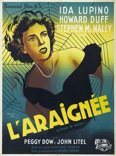 WOMAN IN HIDING Original-release French Petite movie poster.  French Petites measured 23.5x31.5 inches.