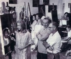Walt Disney visits what will become CalArts.