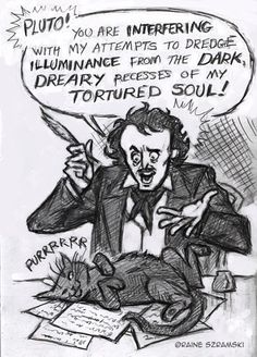 A Poe attempt at uninterrupted writing #writinghumor http://writersrelief.com/