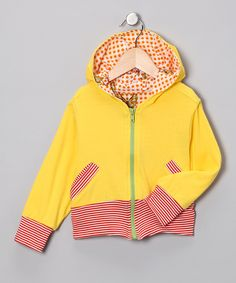 Yellow & Red Stripe Zip-Up Hoodie - Infant, Toddler & Girls | Daily deals for moms, babies and kids
