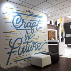 mural, jasa mural, jasa lukis dinding, jasa dekorasi dinding, jasa mural kantor, mural kantor, mural office, mural tipografi, tipografi, mural coworking space-Mural by iMural