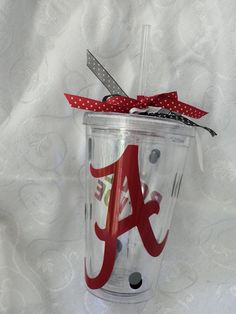University of #Alabama #RollTide double-insulated acrylic #tumbler in my Etsy shop for $10.00