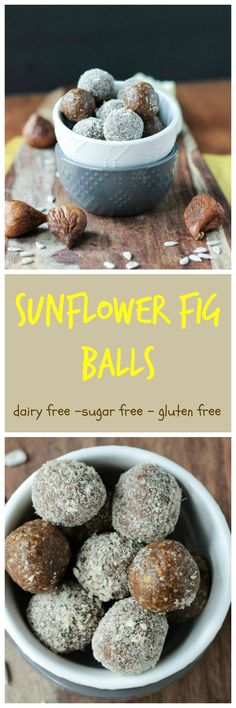 Sunflower Fig Balls - vegan | gluten free | sugar free | refined sugar free | oil free | sunflower seeds | cardamom | figs | quick and easy | raw | paleo