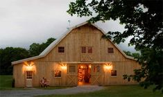 barn style homes custom barn with gambrel roof 10 39 wide overhang and loft this barn. Black Bedroom Furniture Sets. Home Design Ideas