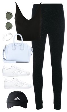 """Untitled #4239"" by magsmccray ❤ liked on Polyvore featuring Fendi, Topshop, Givenchy, adidas and Ray-Ban"