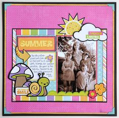 Summer layout made with the #Cricut