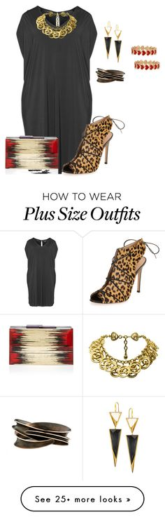 """plus size datenight revamped"" by kristie-payne on Polyvore featuring Lana, Chanel, Gianvito Rossi, Rauwolf and Alison Lou"